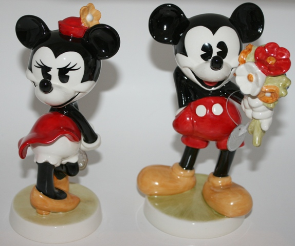 GOEBEL MINNIE MOUSE MICKEY MOUSE DISNEY LIMITED EDITION SET